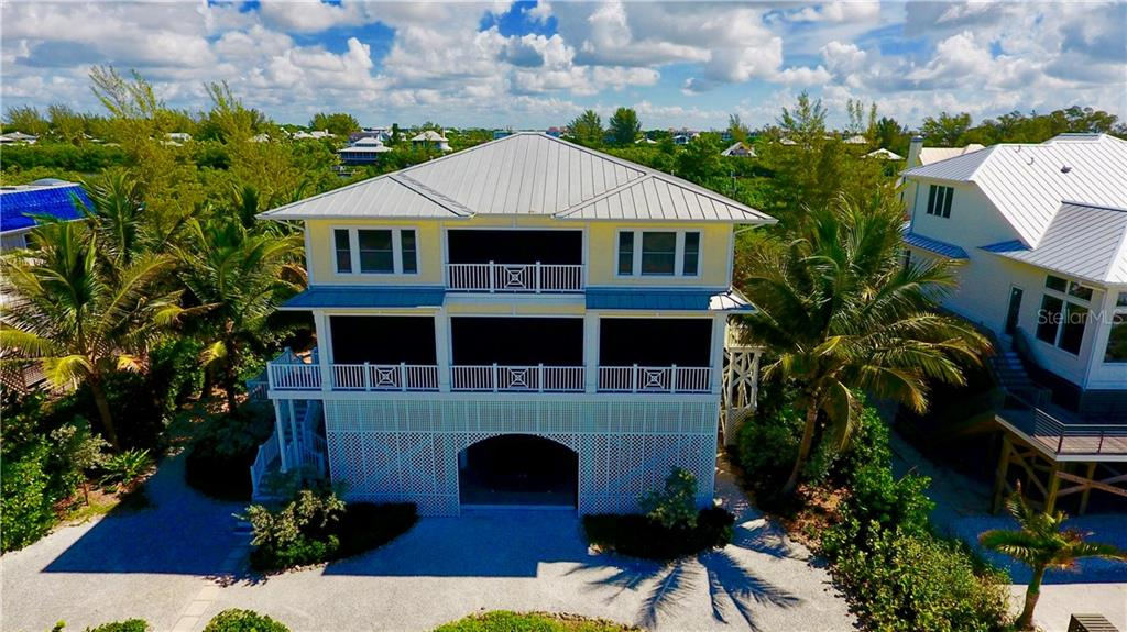 Aerial View of Home-Rear. - Single Family Home for sale at 131 S Gulf Blvd, Placida, FL 33946 - MLS Number is D5794327
