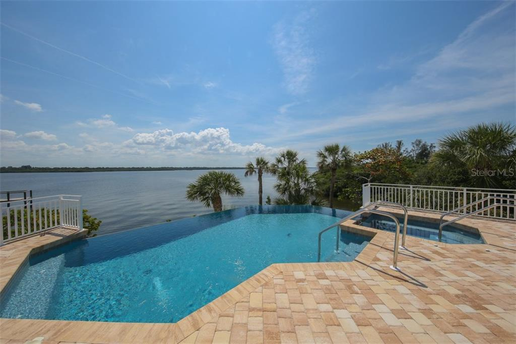 Infinity Pool with Spa - Single Family Home for sale at 7295 Manasota Key Rd, Englewood, FL 34223 - MLS Number is D5911936