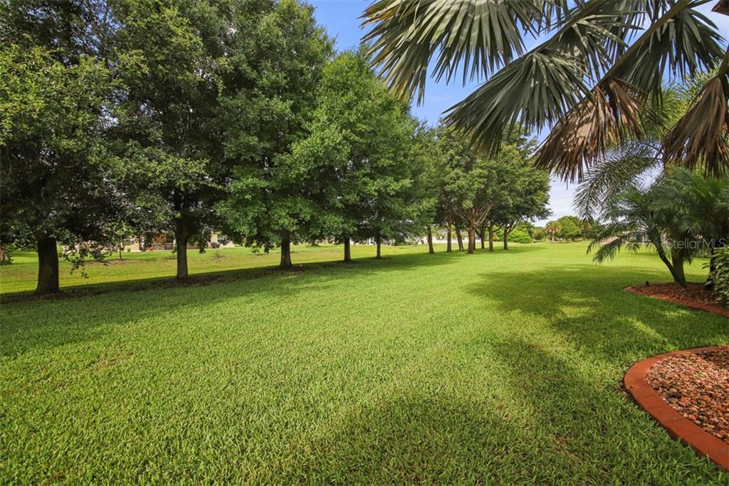 Backyard & rear greenbelt - Single Family Home for sale at 254 Rotonda Blvd E, Rotonda West, FL 33947 - MLS Number is D6107401