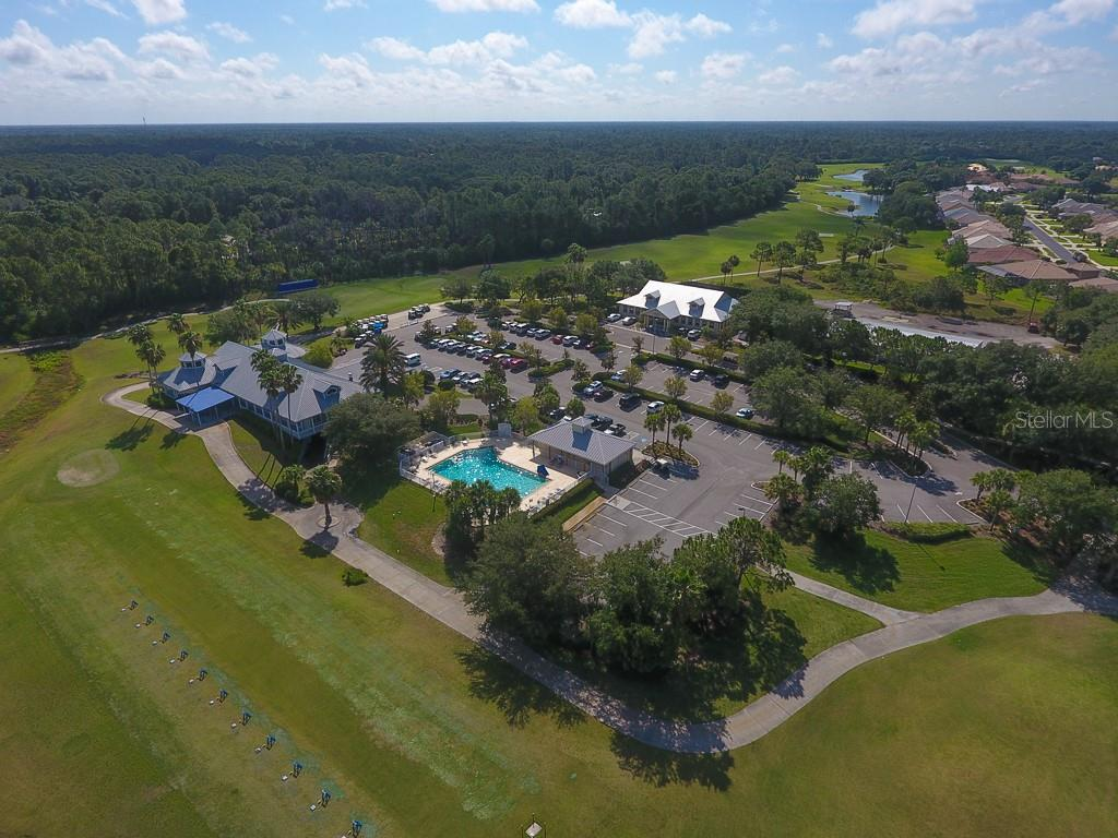 ARIAL VIEW OF CLUB HOUSE, COMMUNITY POOL, AND COMMUNITY CENTER - Single Family Home for sale at 3583 Royal Palm Dr, North Port, FL 34288 - MLS Number is D6111716