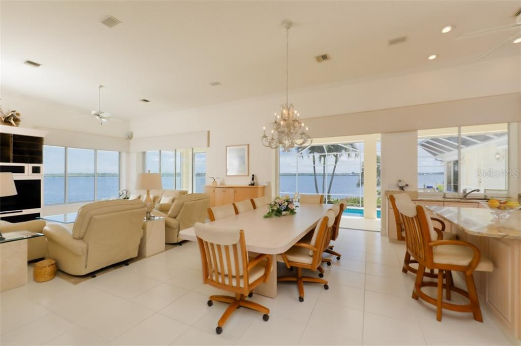 DINING AND GREAT ROOM - Single Family Home for sale at 6793 Manasota Key Rd, Englewood, FL 34223 - MLS Number is D6112093