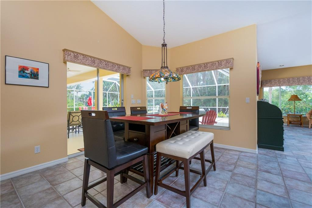 Breakfast area has sliding glass doors to the lanai. - Single Family Home for sale at 280 Capstan Dr, Placida, FL 33946 - MLS Number is D6113118
