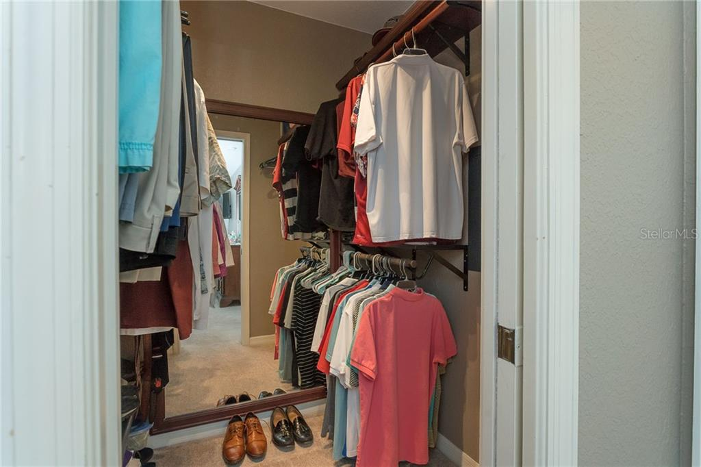 Large walk-in closet in the master bedroom - with wall safe to secure your valuables - Single Family Home for sale at 185 Apollo Dr, Rotonda West, FL 33947 - MLS Number is D6113690