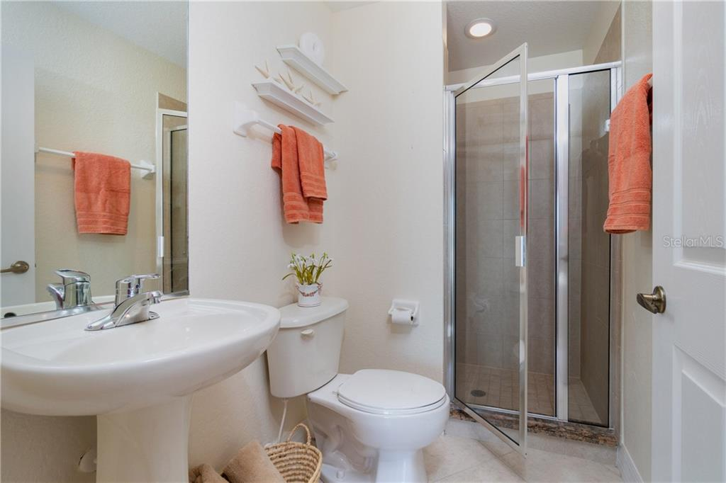 Second Bedroom Ensuite Bath - Condo for sale at 2225 N Beach Rd #401, Englewood, FL 34223 - MLS Number is D6114646