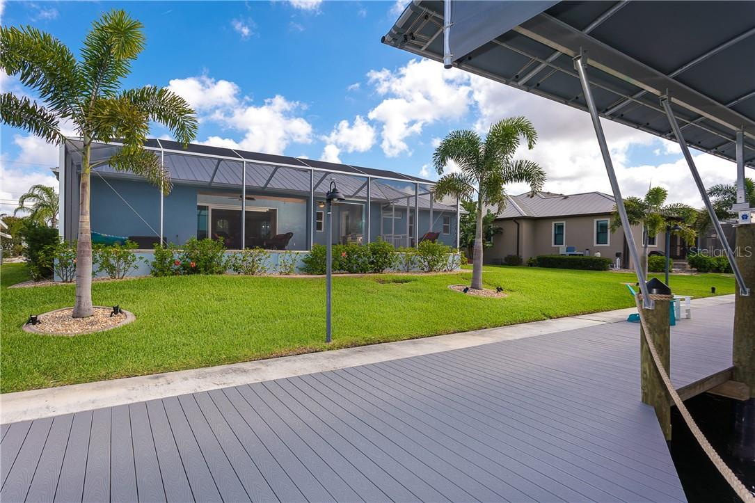 Well lit dock has water and electric for your convenience - Single Family Home for sale at 145 Leland St Se, Port Charlotte, FL 33952 - MLS Number is D6117438