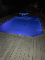 Pool at Night. - Single Family Home for sale at 120 Bocilla Dr, Placida, FL 33946 - MLS Number is D5907510