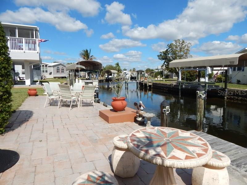 Waterfront and dock. Should be no problem adding a boat lift if desired. - Single Family Home for sale at 9 Emden Cir, Punta Gorda, FL 33950 - MLS Number is C7249413