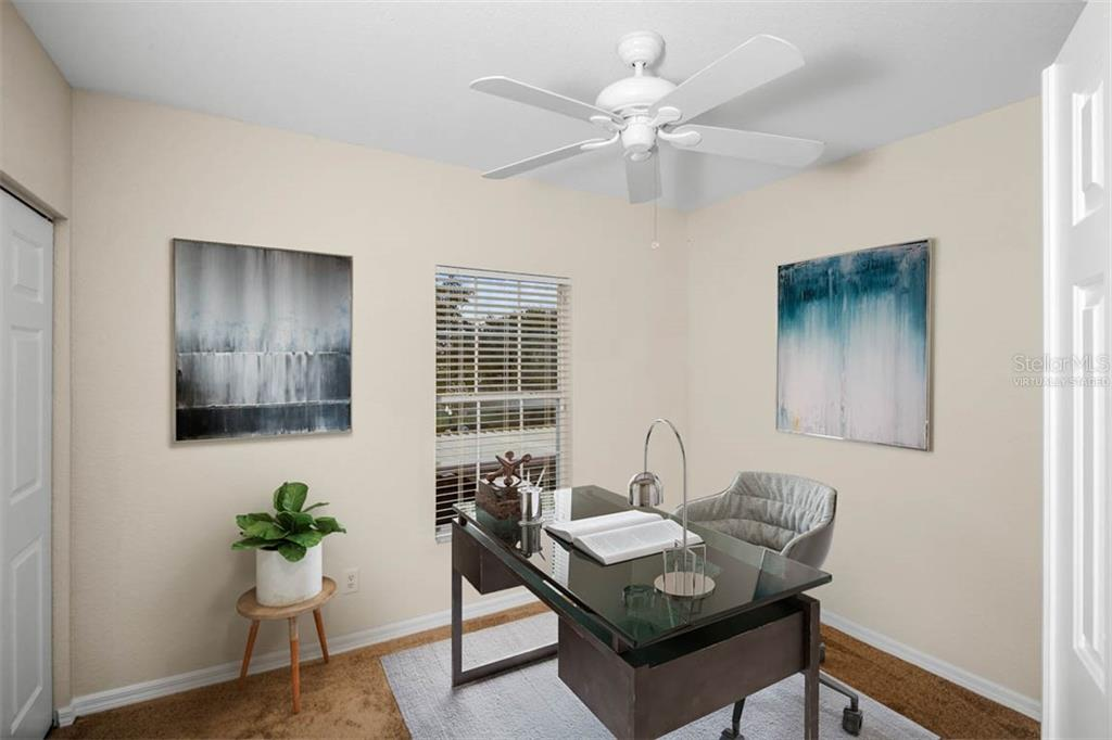 Virtually staged BR 3 as a home office. - Condo for sale at 2040 Willow Hammock Cir #b208, Punta Gorda, FL 33983 - MLS Number is C7408424