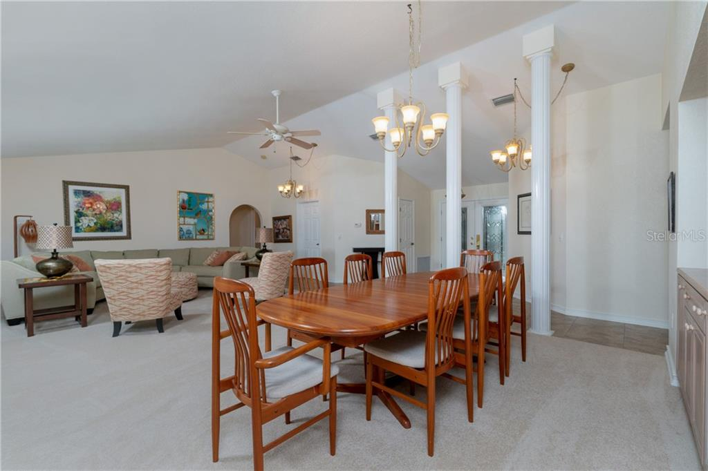 Large great room with vaulted ceiling - Single Family Home for sale at 572 Toulouse Dr, Punta Gorda, FL 33950 - MLS Number is C7411184