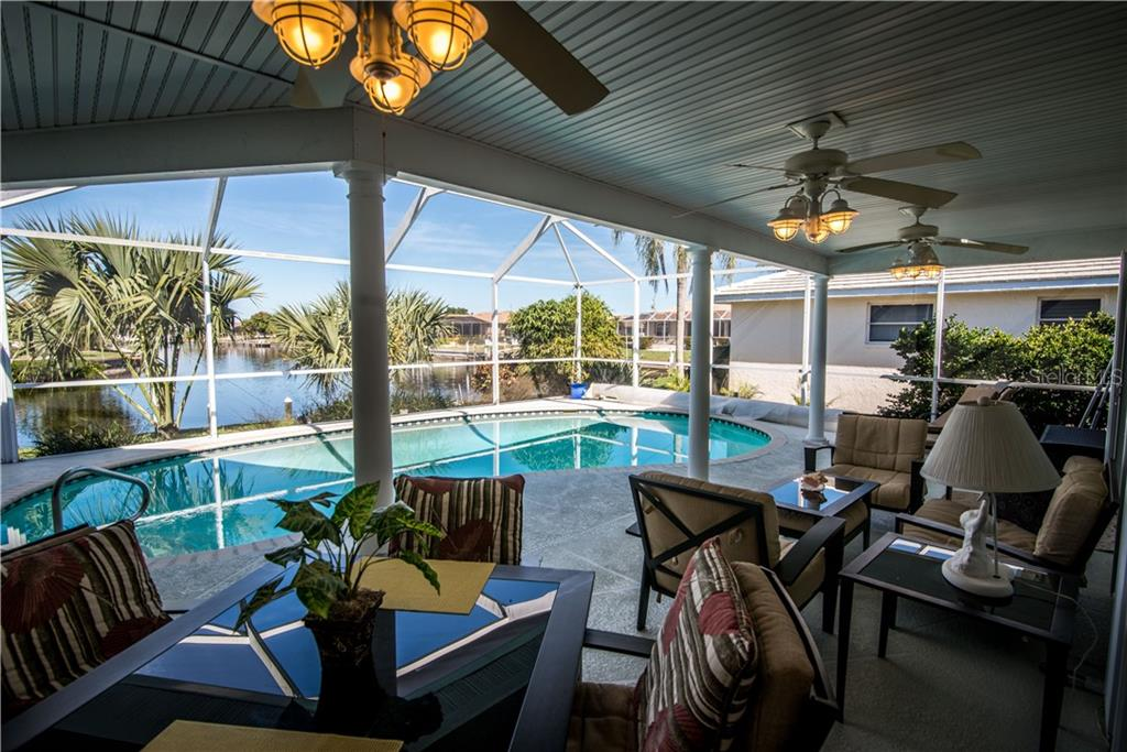 Great space for entertaining or for just relaxing poolside. - Single Family Home for sale at 1440 Appian Dr, Punta Gorda, FL 33950 - MLS Number is C7425399