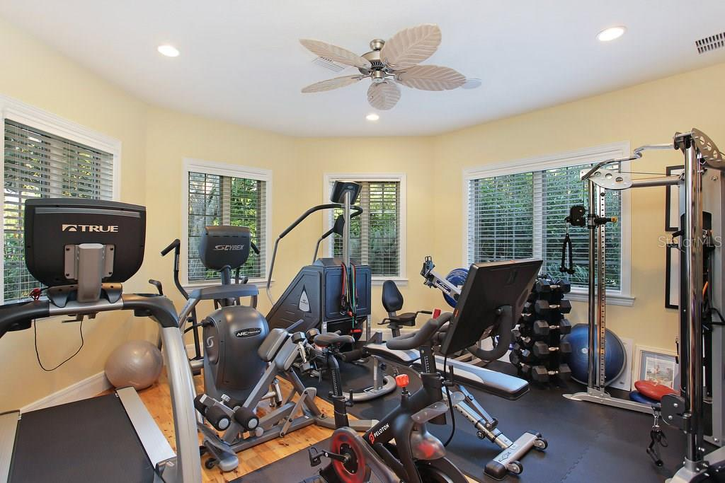 Fitness room - Single Family Home for sale at 1208 Northport Dr, Sarasota, FL 34242 - MLS Number is A4145410