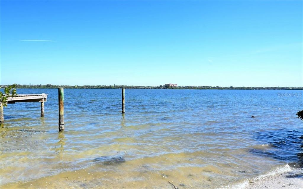 Your view of Little Sarasota Bay - Vacant Land for sale at 8535 Midnight Pass Rd, Sarasota, FL 34242 - MLS Number is A4146348