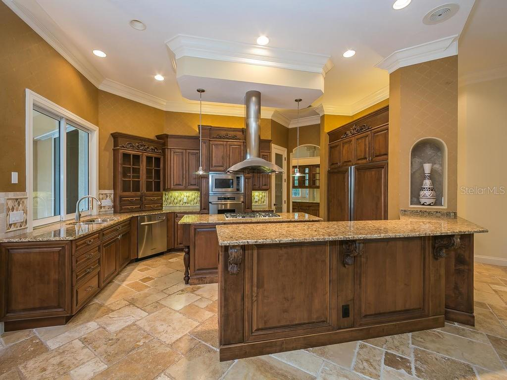 Very lightly used chef's kitchen has everything you will need. - Single Family Home for sale at 3313 Founders Club Dr, Sarasota, FL 34240 - MLS Number is A4169443