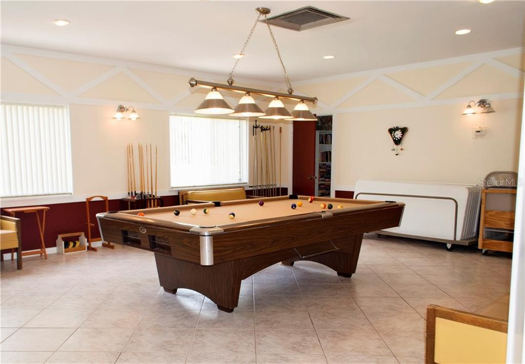 Pool Table and Card Room - Condo for sale at 1310 Glen Oaks Dr E #388e, Sarasota, FL 34232 - MLS Number is A4182635