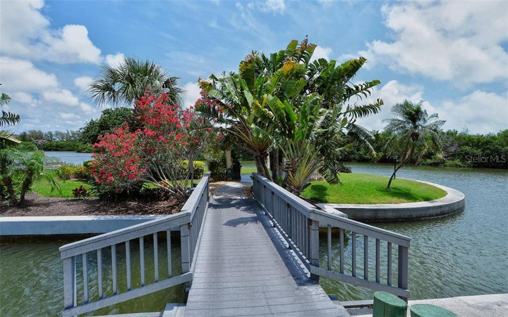 Walkway to Island Gazebo - Condo for sale at 9397 Midnight Pass Rd #403, Sarasota, FL 34242 - MLS Number is A4185842