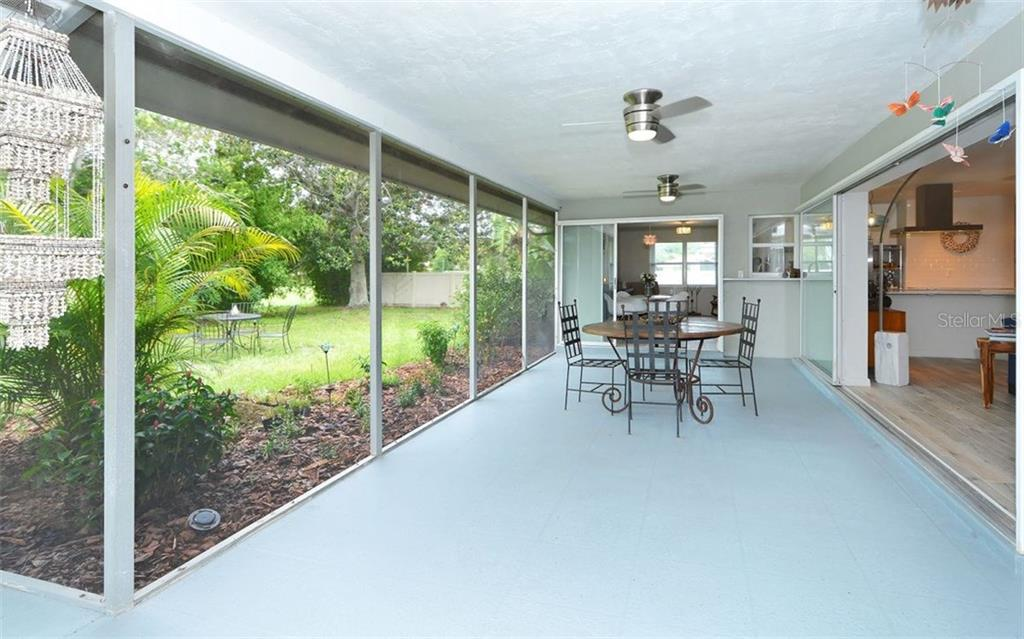 Covered lanai - Single Family Home for sale at 3412 Sea View St, Sarasota, FL 34239 - MLS Number is A4187716