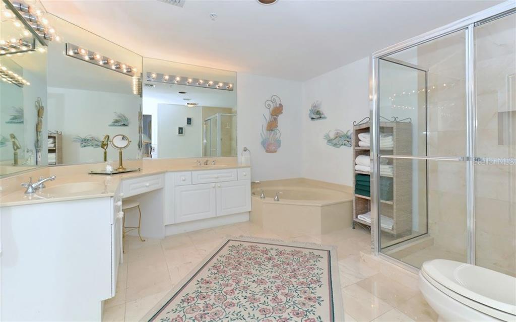 Generous master bath - Single Family Home for sale at 1800 Benjamin Franklin Dr #b507, Sarasota, FL 34236 - MLS Number is A4188540