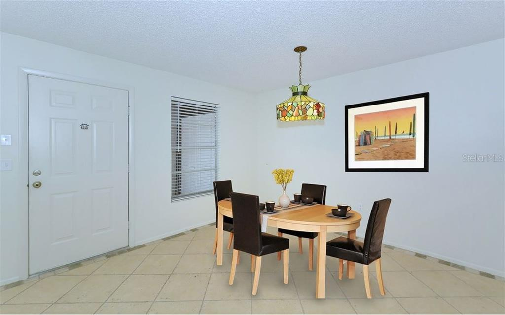 Dining area - Condo for sale at 3827 59th Ave W #4157, Bradenton, FL 34210 - MLS Number is A4190340