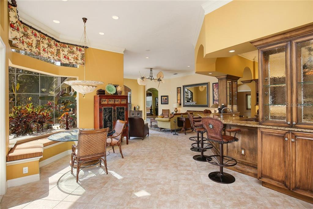 Casual dining area - Single Family Home for sale at 2727 Dick Wilson Dr, Sarasota, FL 34240 - MLS Number is A4200693