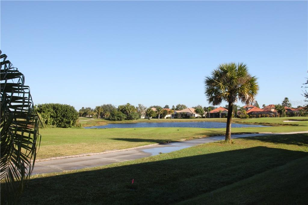Rear Golf View - Condo for sale at 7212 Cedar Hollow Cir #101, Bradenton, FL 34203 - MLS Number is A4200795
