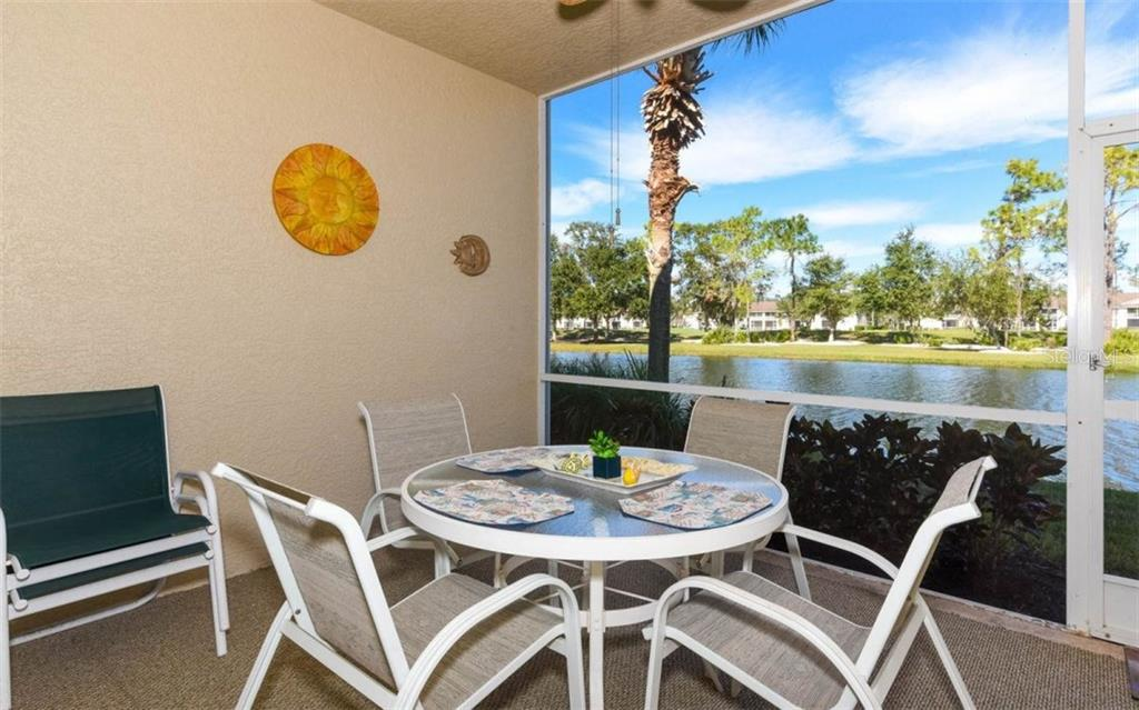 Very Private Lanai with Beautiful Water Views! A Perfect Location to Enjoy a Beverage While you Watch the Wildlife! - Condo for sale at 5280 Hyland Hills Ave #1814, Sarasota, FL 34241 - MLS Number is A4202373