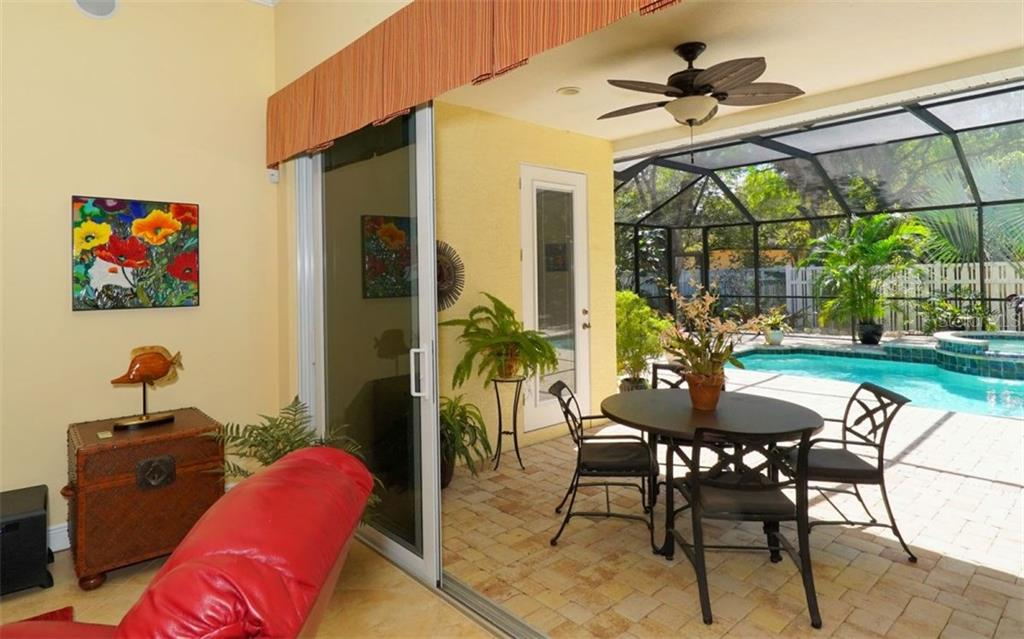 Covered space on Screened lanai perfect for outdoor dining - Single Family Home for sale at 1746 Hillview St, Sarasota, FL 34239 - MLS Number is A4202985