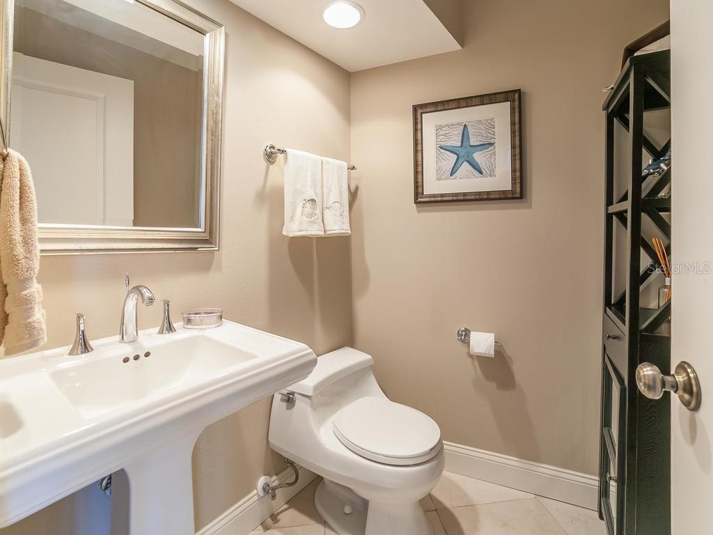 Half Bath, adjacent to office or 4th Bedroom - Single Family Home for sale at 3959 Prairie Dunes Dr, Sarasota, FL 34238 - MLS Number is A4205907