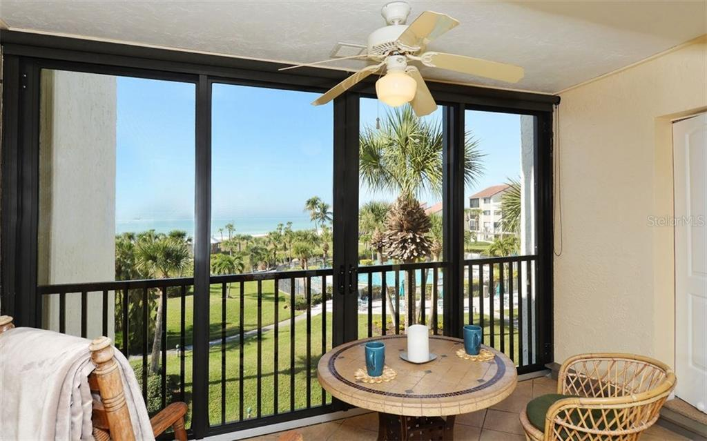 Views of Gulf of Mexico and swimming pool - Condo for sale at 6234 Midnight Pass Rd #302, Sarasota, FL 34242 - MLS Number is A4205939