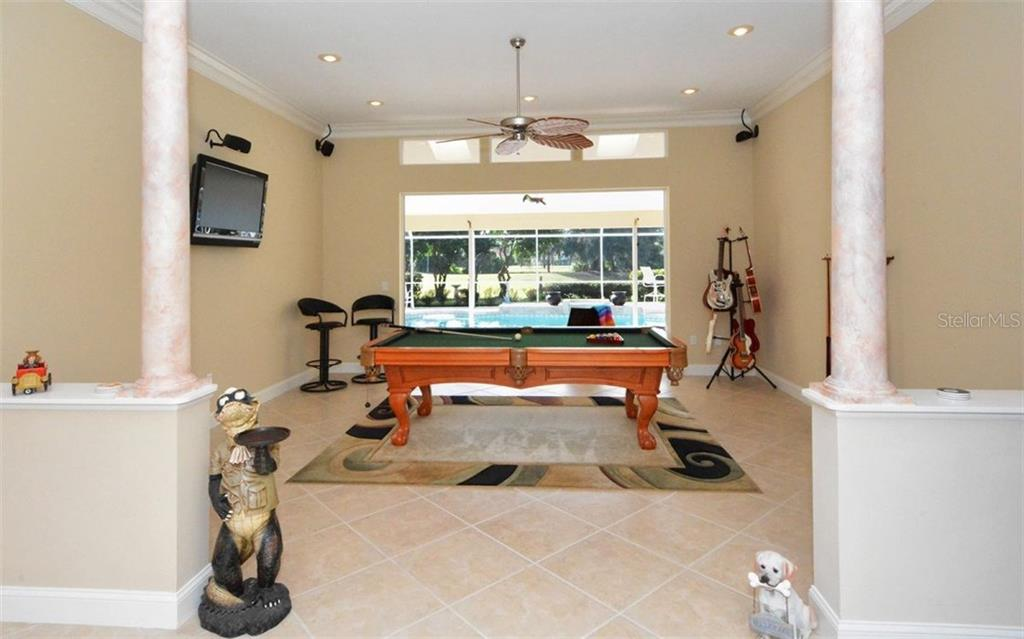 Game room which can be changed to formal living room - Single Family Home for sale at 3882 Spyglass Hill Rd, Sarasota, FL 34238 - MLS Number is A4206477