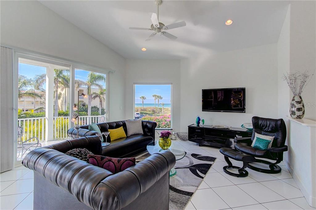 Living Room with a Gulf View - Single Family Home for sale at 104 43rd St, Holmes Beach, FL 34217 - MLS Number is A4209338