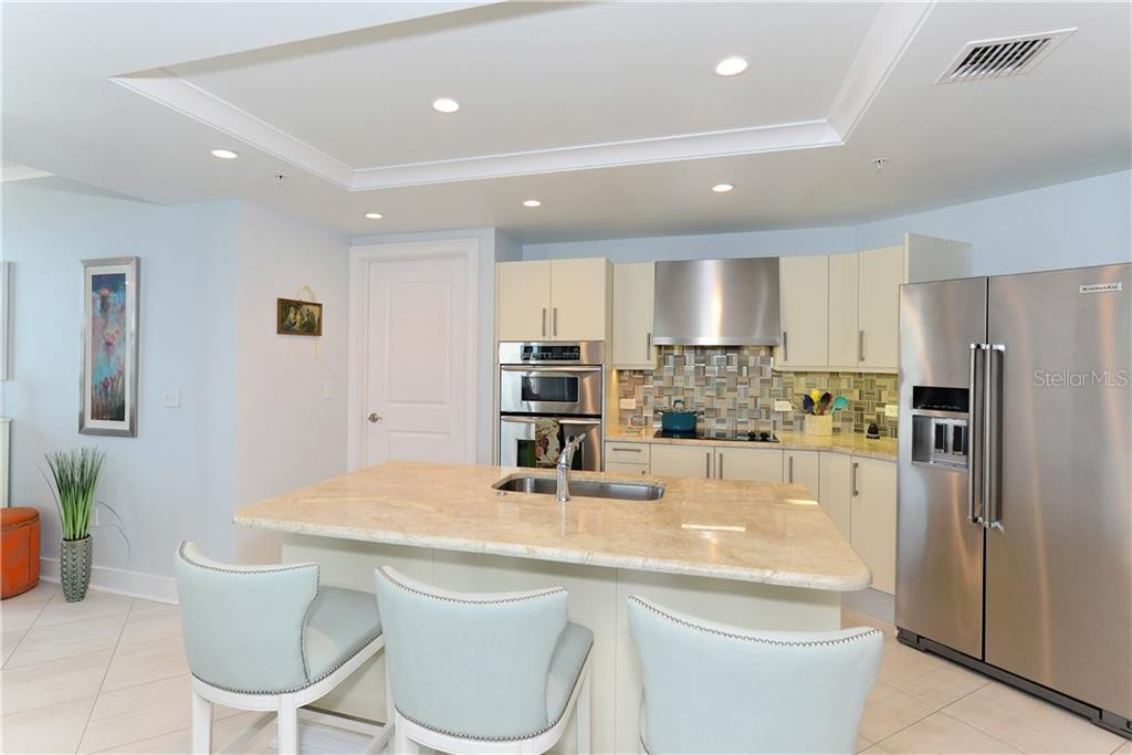 Kitchen with Stone Countertop - Condo for sale at 1350 Main St #1106, Sarasota, FL 34236 - MLS Number is A4209424