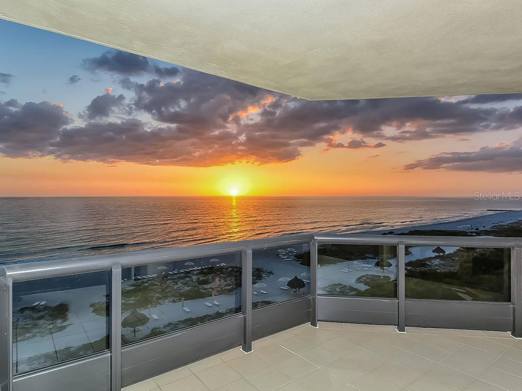Sunset from Balcony - Condo for sale at 1241 Gulf Of Mexico Dr #502, Longboat Key, FL 34228 - MLS Number is A4211248