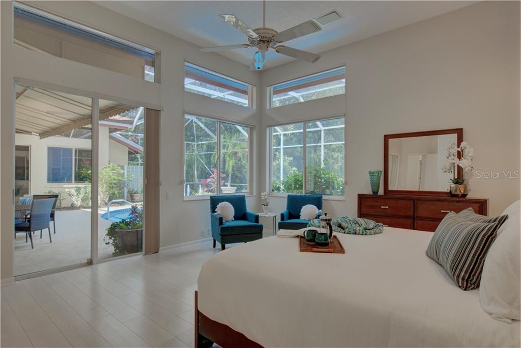 Light and airy Master suite - Single Family Home for sale at 3896 Boca Pointe Dr, Sarasota, FL 34238 - MLS Number is A4213831