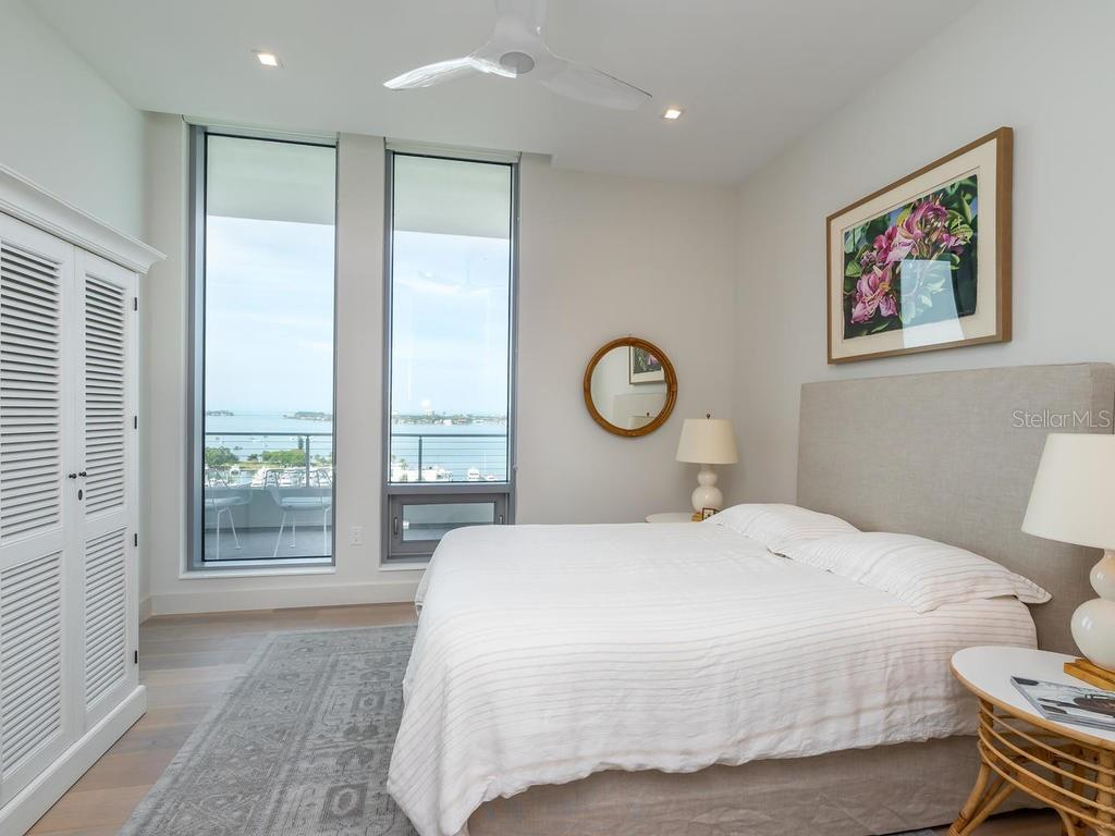 First guest bedroom suite with beautiful water views. - Condo for sale at 1301 Main St #1001, Sarasota, FL 34236 - MLS Number is A4402790