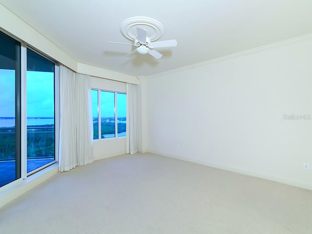 Master Bedroom - Sarasota Skyline Views - Condo for sale at 1300 Benjamin Franklin Dr #1008, Sarasota, FL 34236 - MLS Number is A4405360