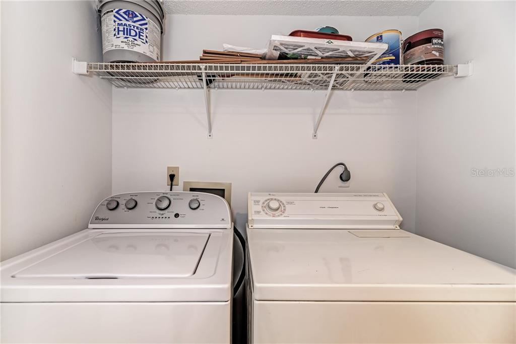 Laundry closet - Condo for sale at 7670 Eagle Creek Dr, Sarasota, FL 34243 - MLS Number is A4406667