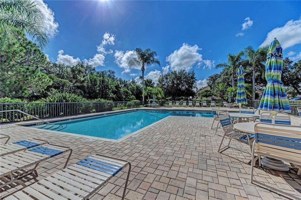 Clubhouse pool - Condo for sale at 7670 Eagle Creek Dr, Sarasota, FL 34243 - MLS Number is A4406667