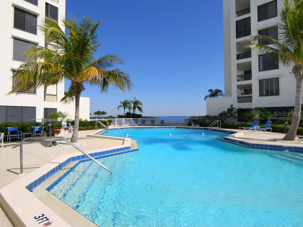 Fairway Bay heated pool - Condo for sale at 1912 Harbourside Dr #604, Longboat Key, FL 34228 - MLS Number is A4407777