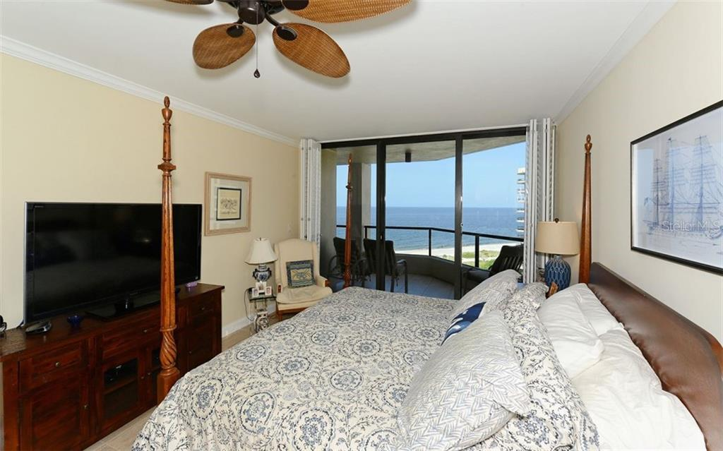 Master Bedroom w/views of Gulf - Condo for sale at 1211 Gulf Of Mexico Dr #705, Longboat Key, FL 34228 - MLS Number is A4410234