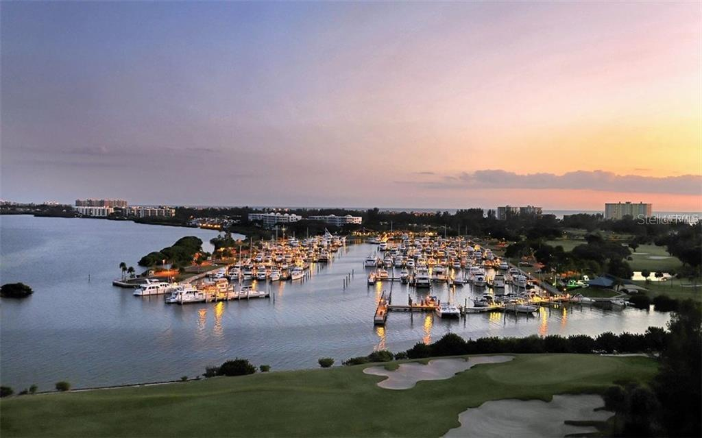 Longboat Key Club golf course with the marina in the background - Single Family Home for sale at 3529 Fair Oaks Ln, Longboat Key, FL 34228 - MLS Number is A4414992