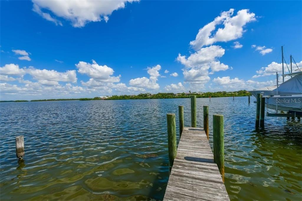 Private boat dock on Sarasota Bay. - Single Family Home for sale at 3470 Gulf Of Mexico Dr, Longboat Key, FL 34228 - MLS Number is A4415298