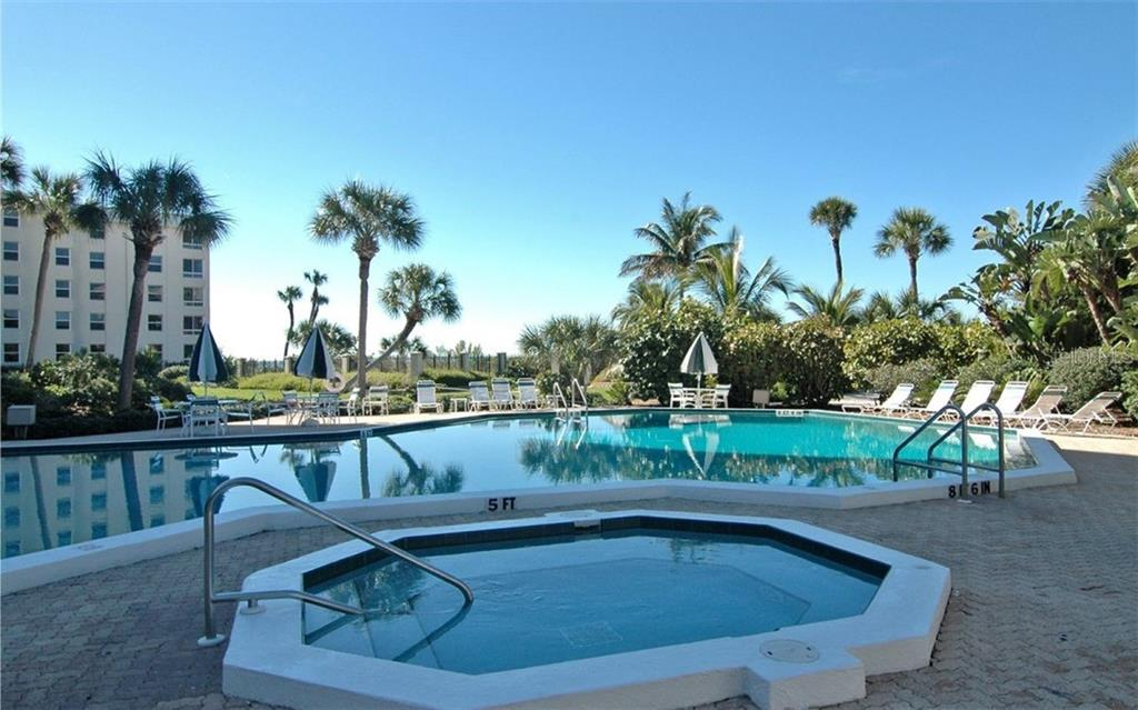 Pool & Hot tub Area - Condo for sale at 5880 Midnight Pass Rd #906, Sarasota, FL 34242 - MLS Number is A4417599