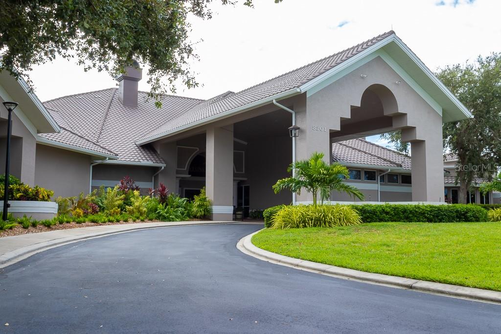 Grand entrance to Club - Condo for sale at 9620 Club South Cir #5110, Sarasota, FL 34238 - MLS Number is A4418081