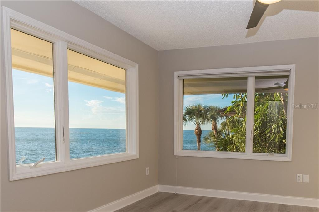 Bedroom #2 with view of Gulf of Mexico. - Single Family Home for sale at 108 Sand Dollar Ln, Sarasota, FL 34242 - MLS Number is A4421218