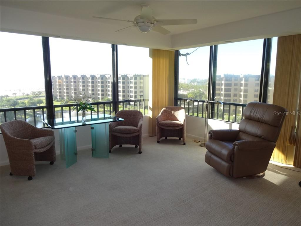 Master suite sitting area - Condo for sale at 5780 Midnight Pass Rd #701b, Sarasota, FL 34242 - MLS Number is A4422545