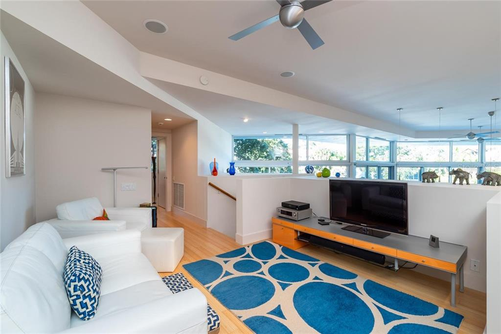 Open space that acts like a family room with views of the canal and overlooking the kitchen and living room! - Single Family Home for sale at 509 Venice Ln, Sarasota, FL 34242 - MLS Number is A4425092
