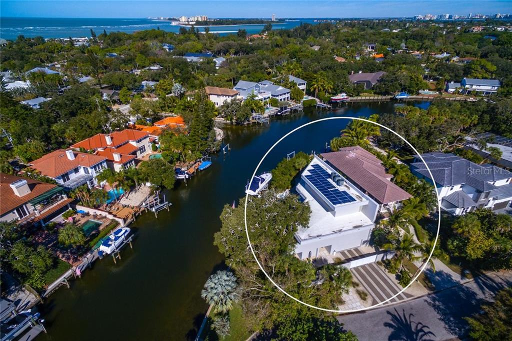 Timeless features located at the end of Venice Lane on the Grand Canal offering excellent boating water and only minutes to the intracoastal and Gulf of Mexico.  35 Solar Panels installed Oct 2017 have dramatically reduced the electricity bill! - Single Family Home for sale at 509 Venice Ln, Sarasota, FL 34242 - MLS Number is A4425092