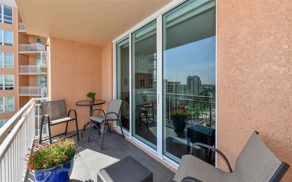 Living room terrace - Condo for sale at 1350 Main St #1201, Sarasota, FL 34236 - MLS Number is A4427507