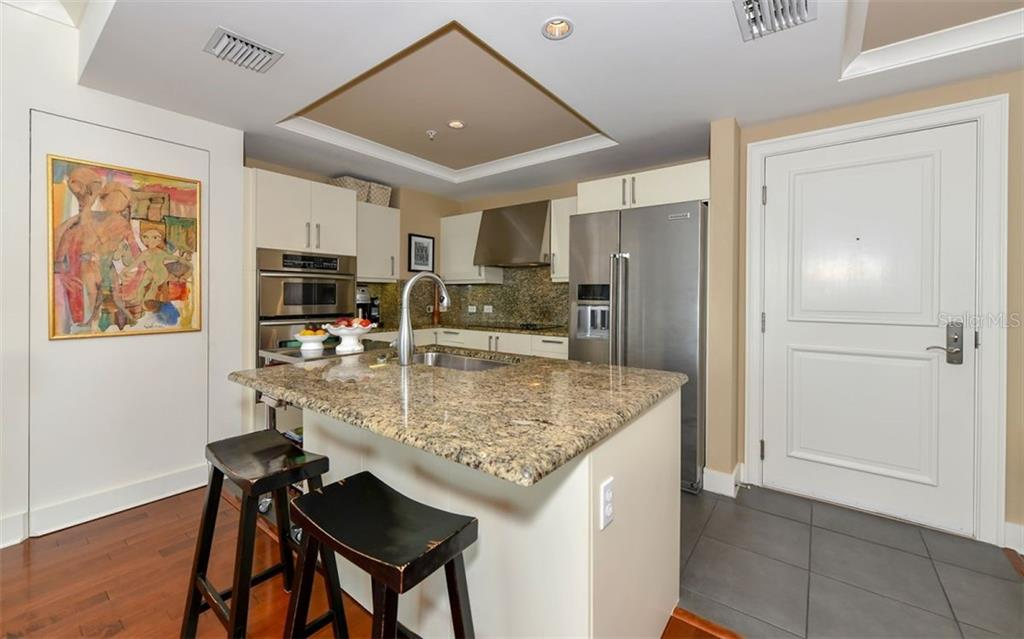 The kitchen is ready for home cooking and entertaining - Condo for sale at 1350 Main St #1201, Sarasota, FL 34236 - MLS Number is A4427507