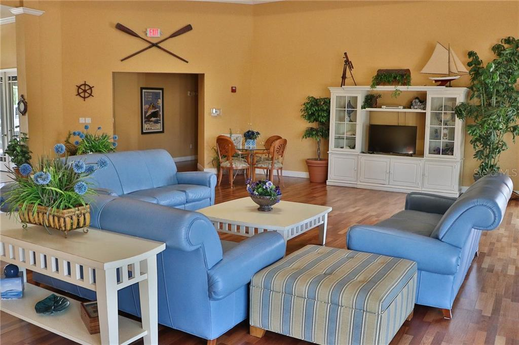 Comfortable Community Room Available For Meetings or Just Relaxing w/Friends - Condo for sale at 5511 Rosehill Rd #201, Sarasota, FL 34233 - MLS Number is A4431621
